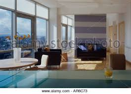 fleming house apartment glasgow interior at dusk architect