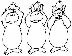 printable monkey coloring pages three monkeys coloring page free printable coloring pages