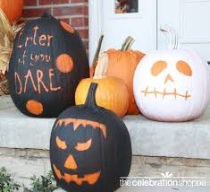 No Carve Pumpkin Decorating Ideas Pumpkin Designs Painting 40 Cool No Carve Pumpkin Decorating Ideas