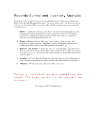Online Resume Builder Reviews Records Survey And Inventory Analysis The Purpose Of The Records