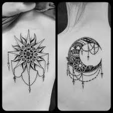 spinetattoo sun moon tattoos