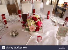 Beautiful Flower Decoration Beautiful Flower Decoration On Wedding Table Stock Photo Royalty