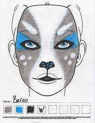 baroo ghost corgi akita makeup sketch u2014 weasyl