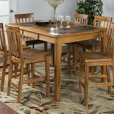 shop sunny designs sedona wood extending dining table at lowes com