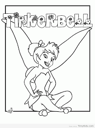 tinker bell color pages timykids