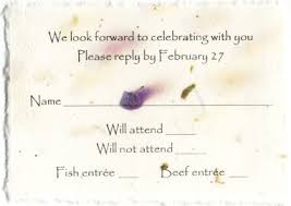 wedding invitation response card rsvp cards with meal options