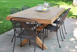 Patio Table Top Impressive On Diy Patio Table Top Ideas Outdoor Table With X Leg