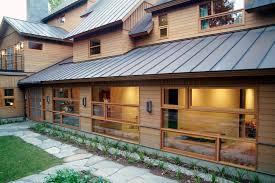 Exterior Metal Paint - copper metallic paint exterior rustic with outdoor lighting metal