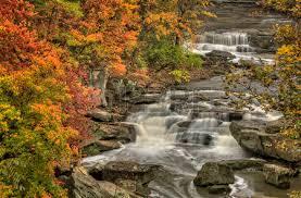 berea falls ohio peak fall colors cascading waterfall