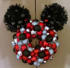 mickey mouse ornament wreath by noelswreaths on etsy