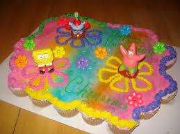 spongebob birthday cakes pull apart cakes and cupcake cakes kids birthday