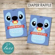 stitch diaper raffle tickets baby shower lilo u0026 stitch