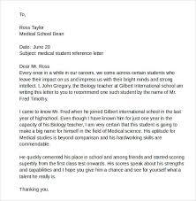 student letter recommendation letter sample for student