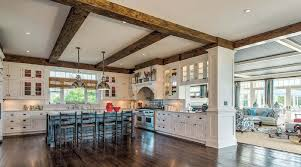 white kitchen cabinets with wood beams wood beam kitchen ceiling exposed beams in the kitchen