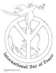 international day of peace coloring page dia de la pau