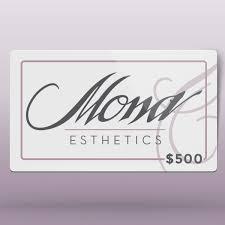 500 gift card 500 gift card mona esthetics