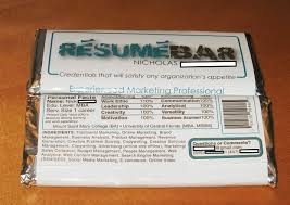 Resume Applications Chocolate Bar Resume Takes Internet By Storm