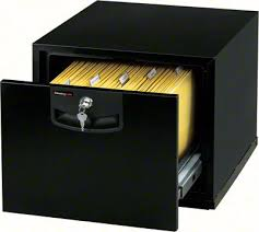 One Drawer Filing Cabinet by Sentry E1000 Stackable Fire File Single Drawer Fire Resistant