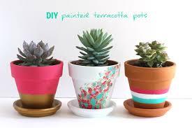 diy painted terracotta pots my socal u0027d life