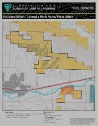 Colorado Game Unit Map by Silt Mesa Extensive Recreation Management Area Map Bureau Of