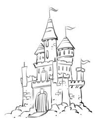 coloring marvelous easy draw castle simple drawing free