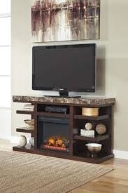 Tv Stand With Fireplace Furniture Black Costco Tv Stands With Modern Sound Speaker Design