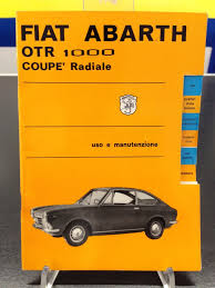 fiat abarth otr 1000 owner u0027s manual u2013 berni motori pit shop
