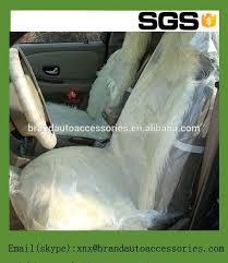 housse plastique siege auto pe transparent laminé en plastique housses de siège de voiture capot