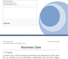 prince2 business case template prince2 business casebusiness