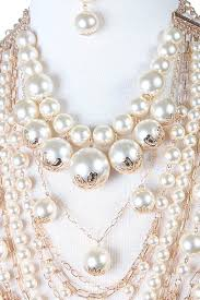 pearl ornament chain necklace alex