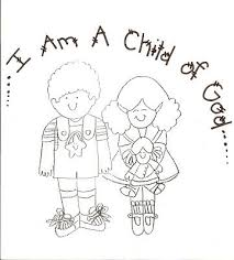 Coloring Pages For Nursery Lds | lds nursery color pages 1 i am a child of god church teaching