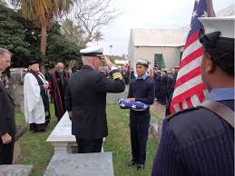 Fold Flag Military Style New Gravestone For Midshipman Dale The Royal Gazette Bermuda News