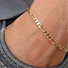 ankle bracelet gold images 1piece nice exquisite trendy figaro chain anklet ankle bracelet jpg