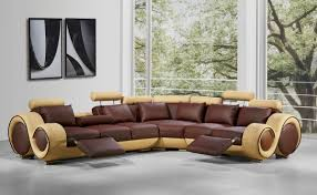 High End Leather Sectional Sofa Modern Leather Sectional Sofa With Recliners