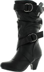 s boots buckle link s pauline 38 kitten heel boots with decorative