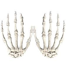 taos 1 pair plastic scary halloween skeleton hands life size hands