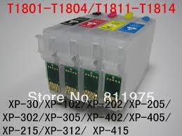chip resetter epson xp 305 t1811 refillable ink cartridge for epson xp 30 xp 102 xp 202 xp 205