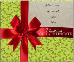 48 best christmas gift certificates images on pinterest gift