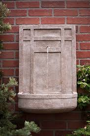 amazon com the sicily outdoor wall fountain in parchment beige