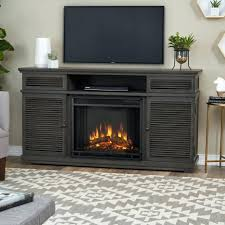 tv stand w corner convertible infrared electric media fireplace