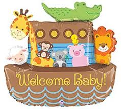 noah ark baby shower noah s ark welcome baby shower balloons decorations