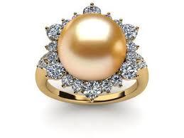 golden pearl rings images Golden south sea pearl rings jpg