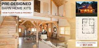 home plans with interior photos barn post beam homes plans loft living space rustic cabins