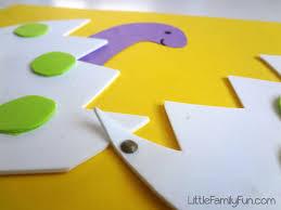 little family fun hatching dinosaur egg craft