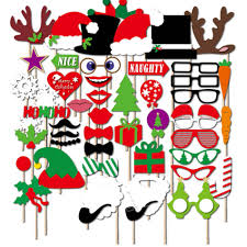 christmas photo booth props 50pccs merry christmas photo booth props on sticks for wedding
