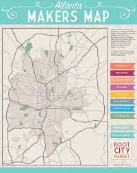Atlanta On Us Map by The Atlanta Makers Map Sarah Lawrence