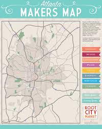 atlanta city us map the atlanta makers map