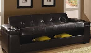 sofa coaster faux leather convertible sofa sleeper with storage