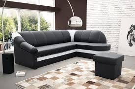 Sofa Coma Corner Sofa Bed U0027benano U0027 05 Black Leather White Leather