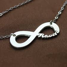 infinity necklace with name solid white gold infinity name necklace